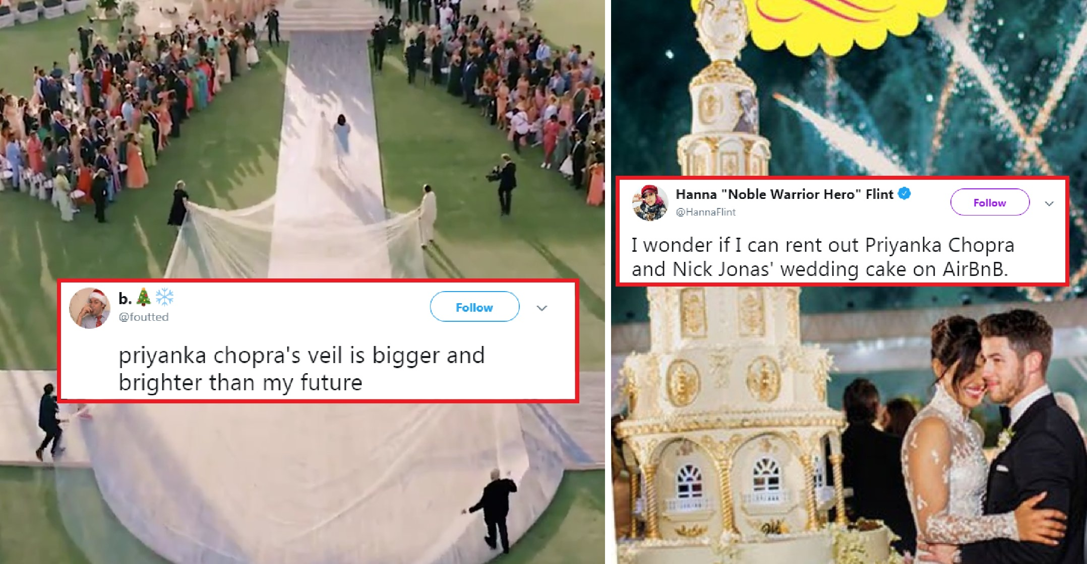 From 75 Ft Long Veil To 18 Foot Cake Priyanka S Wedding Results